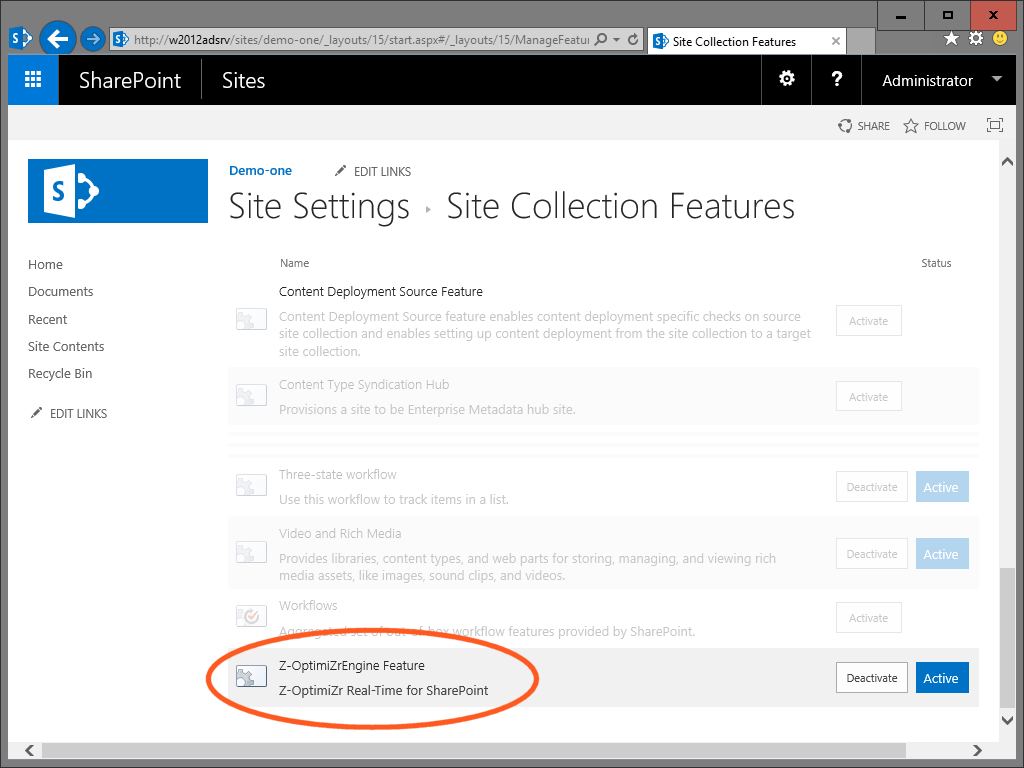 The Z-OptimiZr Real-Time Optimization Engine SharePoint Feature