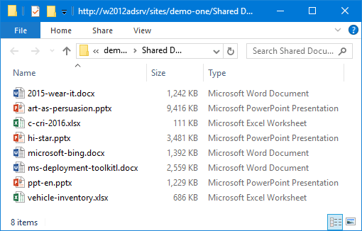 MS Office files in a SharePoint Document Library for which Z-OptimiZr Real-Time is active