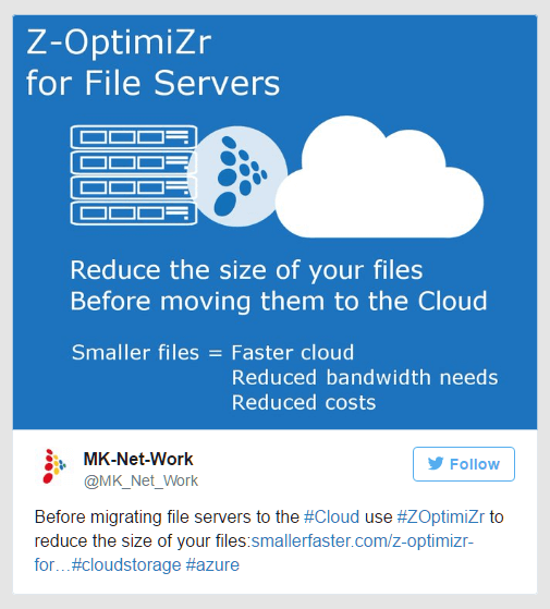 Use Z-OptimiZr for File Servers before cloud migration