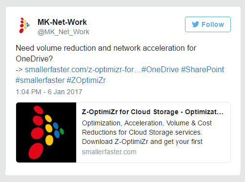 Disk storage reduction deliver network acceleration for OneDrive in the Cloud