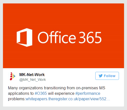 Migration to MS Office 365 performance problems