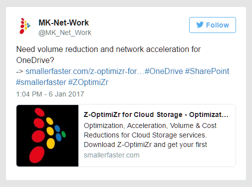 OneDrive disk space reduction and cloud network optimization