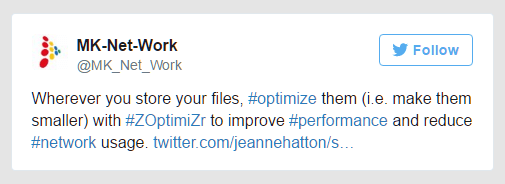 Optimize files with Z-OptimiZr to improve performance and reduce network usage