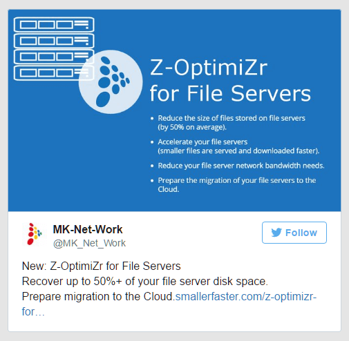Recover disk space and prepare Cloud migration with Z-OptimiZr for File Servers