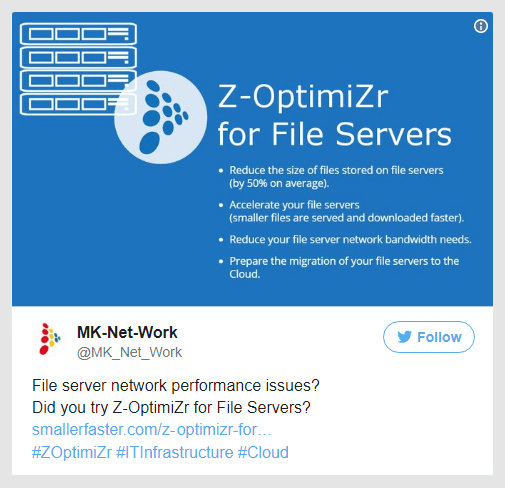 File server network performance issues? Did you try Z-OptimiZr for File Servers?